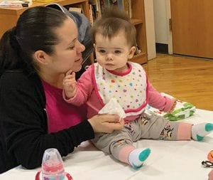 Jessica Long and Ariana appreciate the parenting program offered by EBCAP.  (Photo by Brooke Constance White)